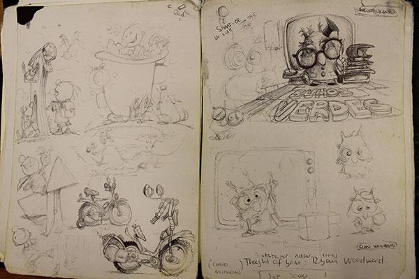 El cuaderno de bocetos es imprescindible para captar la realidad más espontánea