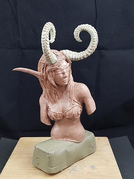 Modelar esculturas te ayudará a aprender a dibujar