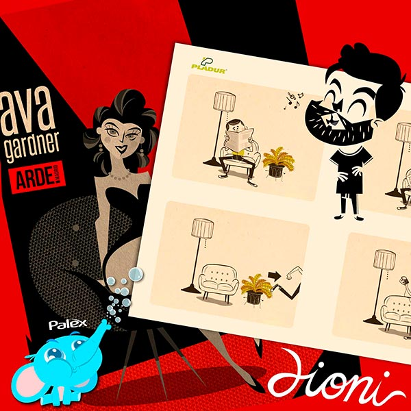 Las ilustraciones de Dioni nos recuerdan que él es uno de los mejores diseñadores gráficos de España