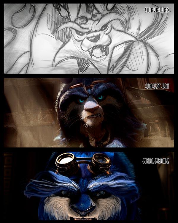 Proceso de animación del corto de Blue y Malone de ESDIP