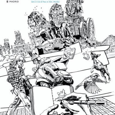 Cartel de la feria de ilustración de Dibumad