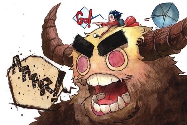 Monster Shout realizado con acuarelas