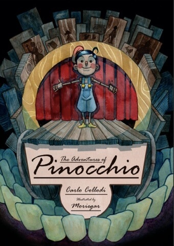Obra de Pinocho realizada en acuarela