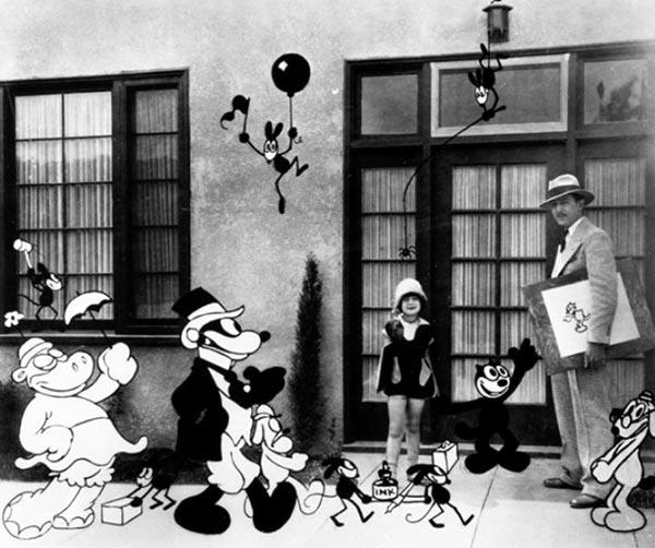 Mezcla de imagen real y animación de Walt Disney