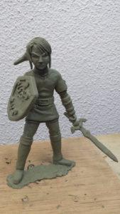 escultura de link para crear videojuegos