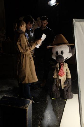 Personajes del corto de Blue & Malone en una escena
